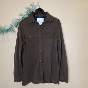 Tommy Bahama ~ Brown Button Down Long Sleeve
